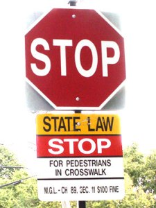 pedestrian fine sign