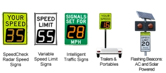 Radar Speed Signs or Speed Displays
